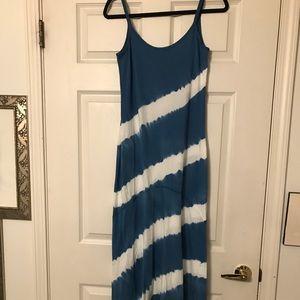 Blue & White Maxi Dress